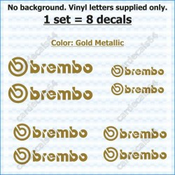 Brembo Brake Caliper Stickers Decals Curved 0%