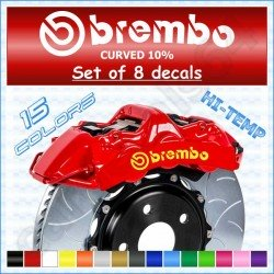 Brembo Brake Caliper Stickers Decals Curved 10%