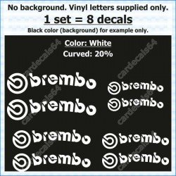 Brembo Brake Caliper Stickers Decals Curved 20%